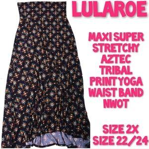 Lularoe Tribal Maxi Skirt Size 2X NWOT